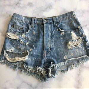 LF Carmar Titania Distressed Denim Shorts